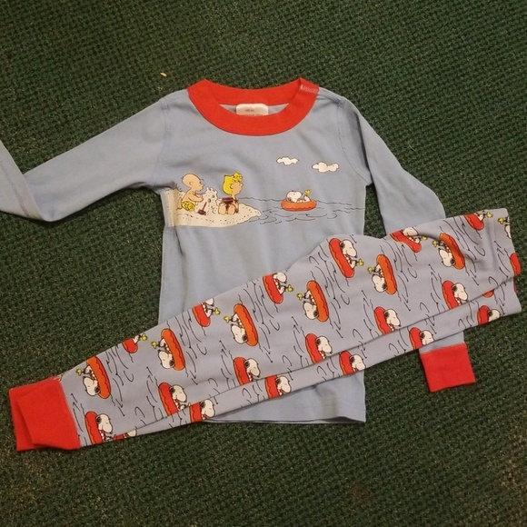 b211713386 Hanna Andersson Other - GUC Hanna Jams Peanuts Snoopy Long Johns Size 100